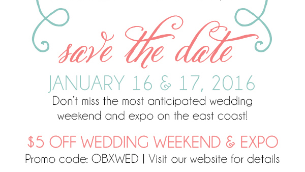 2016 Wedding Expo Discount