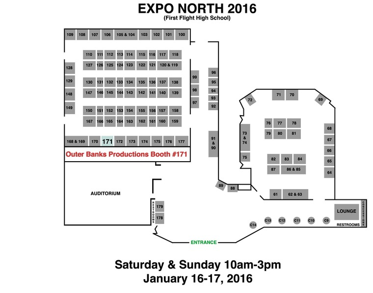 2016 Wedding Weekend Expo Map