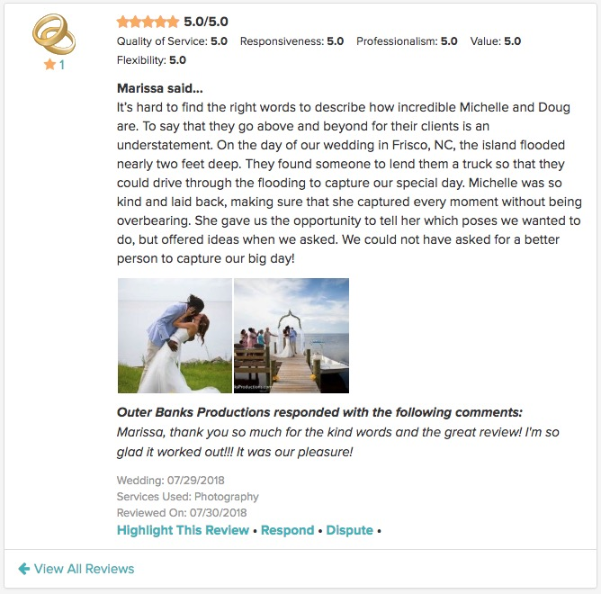 2018 WeddingWire Review